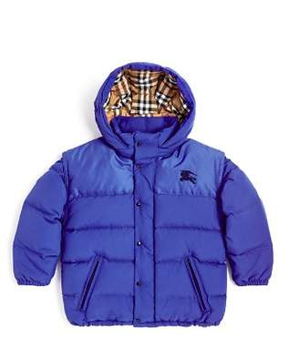 Burberry Boys' Ezra Convertible Down Puffer Coat - Little Kid, Big Kid