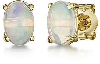 Theia 9ct Yellow Gold Oval 'Blue Sapphire' Stud Earrings