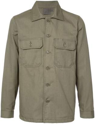 Naked & Famous Denim military style shirt