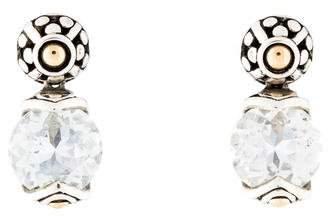 John Hardy White Topaz Batu Sari Drop Earrings