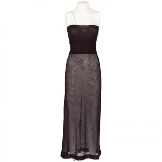 Dries Van Noten Purple Wool Dresses