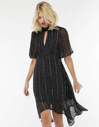 Monsoon Lilith Shimmer Stripe Hanky Hem Dress