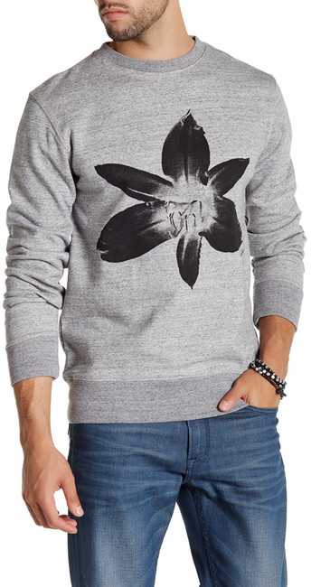 Saturdays Surf NYC Bowery Floral Crew Neck Pullover
