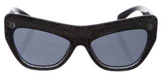 Le Specs Adam Selman x Playgirl Cat-Eye Sunglasses