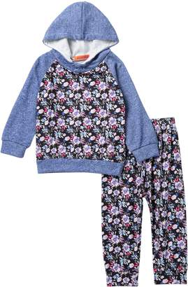 Funkyberry Blue Floral Print Set (Baby Girls)