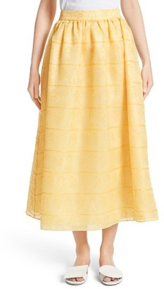 Women's Shrimps Iris Embroidered Skirt $980 thestylecure.com