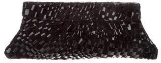 Lauren Merkin Woven Leather & Suede Clutch