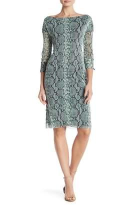 Petit Pois Patterned Boatneck Dress
