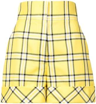 Sara Battaglia checked tailored shorts