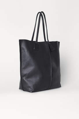 H&M Leather Shopper - Black