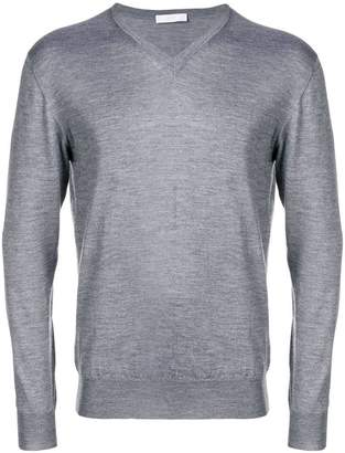 Cruciani slim fit V-neck jumper