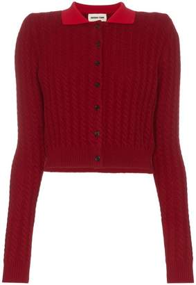 Shushu/Tong cable knit cropped wool cashmere-blend cardigan