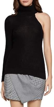 BCBGeneration One-Sleeve Turtleneck Sweater