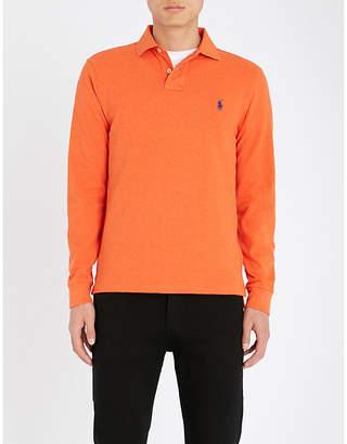 Polo Ralph Lauren Long-sleeved cotton-piqué polo shirt