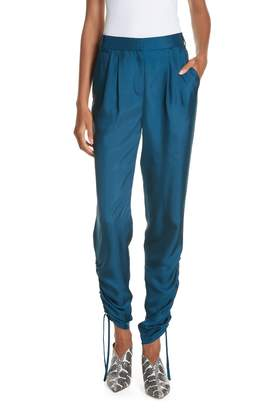 Tibi Mendini Twill Shirred Pants