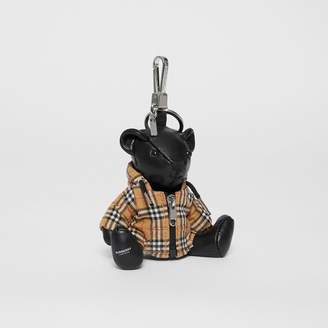 Burberry Thomas Bear Charm in Vintage Check Hooded Top