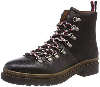 46a75920a8039d Tommy Hilfiger Men s Elevated Outdoor Hiking Boot Combat (Black ...