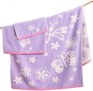 Kassatex Kids' Kassa Butterfly Fingertip Towel
