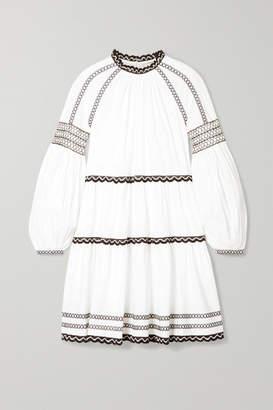 Ulla Johnson August Embroidered Cotton-poplin Mini Dress - White