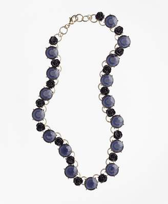 Rose and Stone Necklace $78 thestylecure.com