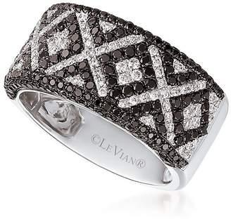 LeVian Le Vian Women's Exotics® XO Vanilla® & Blackberry Diamond® Band Ring