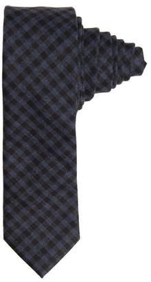 Paisley & Gray Navy Gingham Tie