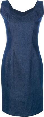John Galliano Pre-Owned denim sleeveless dress