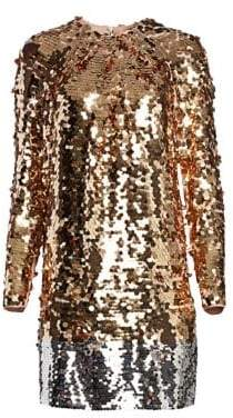 No.21 No. 21 Long Sleeve Sequin Mini Dress