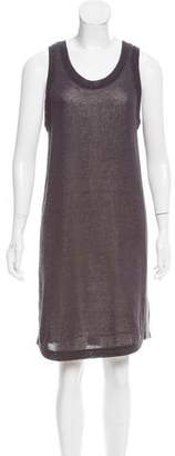 Brunello Cucinelli Monili-Trimmed Knit Dress