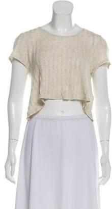 Reformation Rib Knit Short Sleeve Top