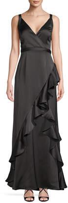 Aidan Mattox Ruffle Gown