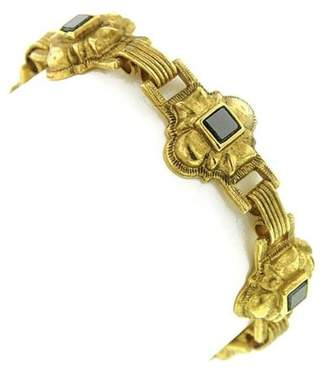 Couture Antiquities Gold-Tone Semi-Precious Onyx Bracelet