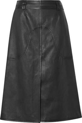 Courreges Belted Leather Skirt - Black