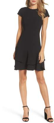 Eliza J Stretch Crepe Sheath Dress