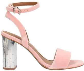 Lola Cruz Pink Velvet Sandals