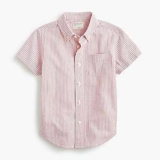 J.Crew Boys' short-sleeve shirt in seersucker
