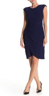 Taylor Crepe Jersey Drape Dress