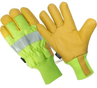 Hands On LP2200-L, The Ignitor, Hi Viz Premium Goat Grain Leather Palm Glove, 3M Thinsulate Lined, 100% Waterproof