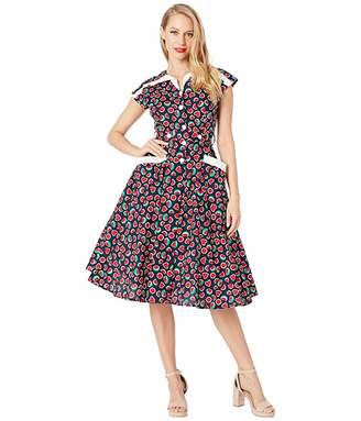 Unique Vintage 1950s Style Cap Sleeve Hedda Swing Dress