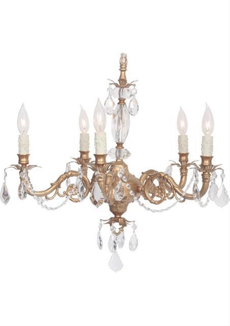 Victoria Gold Five Light Chandelier