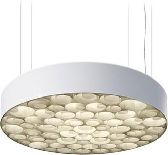 LZF Spiro 6-Light Drum Pendant LZF Features: Multivolt Ballast, Shade Color: White/Ivory White