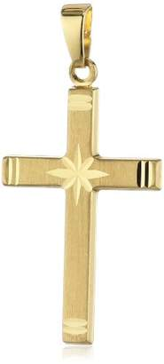 Amor Cross Unisex Pendant 333 Yellow Gold Partially Matte 31 mm 304832