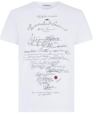 Alexander McQueen Calligraphy Logo T-Shirt