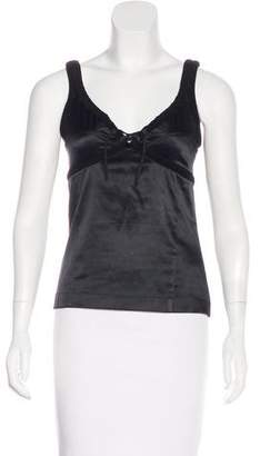Just Cavalli Sleeveless Satin Top
