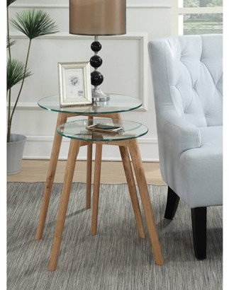 Convenience Concepts Clearview Round Nesting End Tables