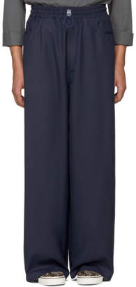 Sunnei Navy Loose Fit Trousers