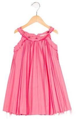 Lanvin Girls' Crystal-Embellished Pleat Dress $125 thestylecure.com