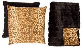 Adrienne Landau 3-Piece Leopard Throw Set