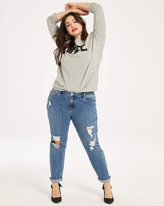 Fashion World Stonewash Fern Ripped Boyfriend Jeans