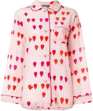 Alexander McQueen petal-print pyjama shirt